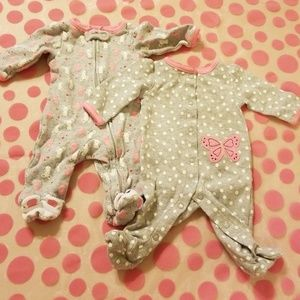 Carters Newborn Footie Pajama Set